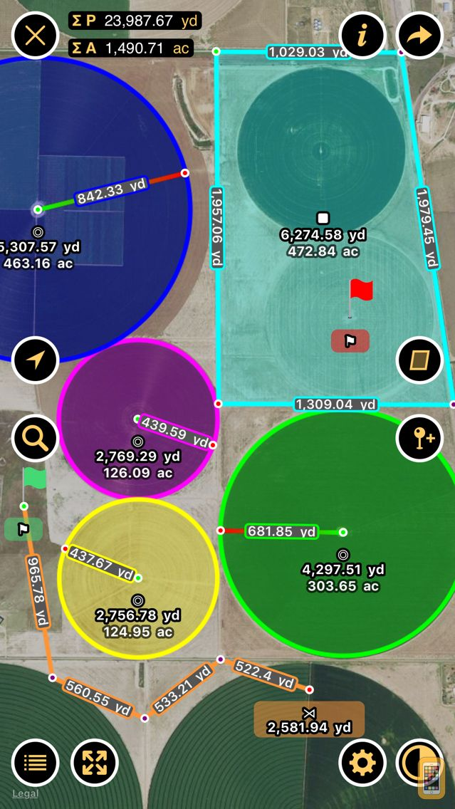 Screenshot - Planimeter — Measure Land Area