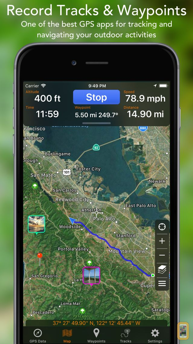 Screenshot - GPS Tracks