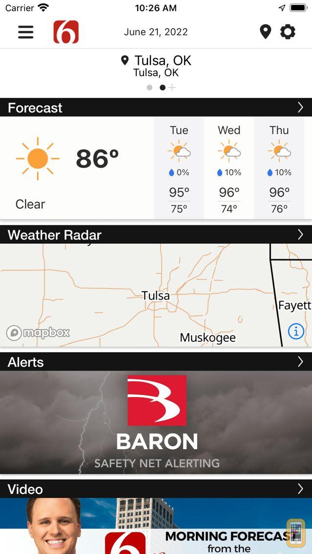 Screenshot - News on 6 Weather
