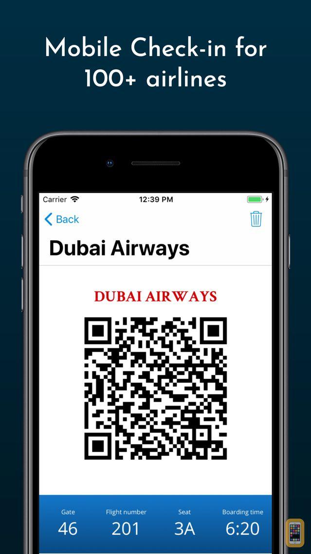 Screenshot - Boarding Pass - Flight Checkin