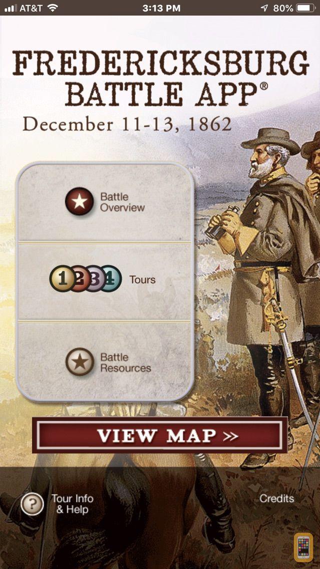 Screenshot - Fredericksburg Battle App