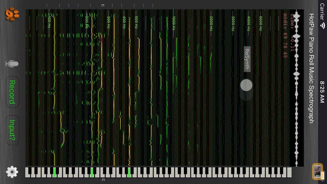 Screenshot - Music Spectrograph
