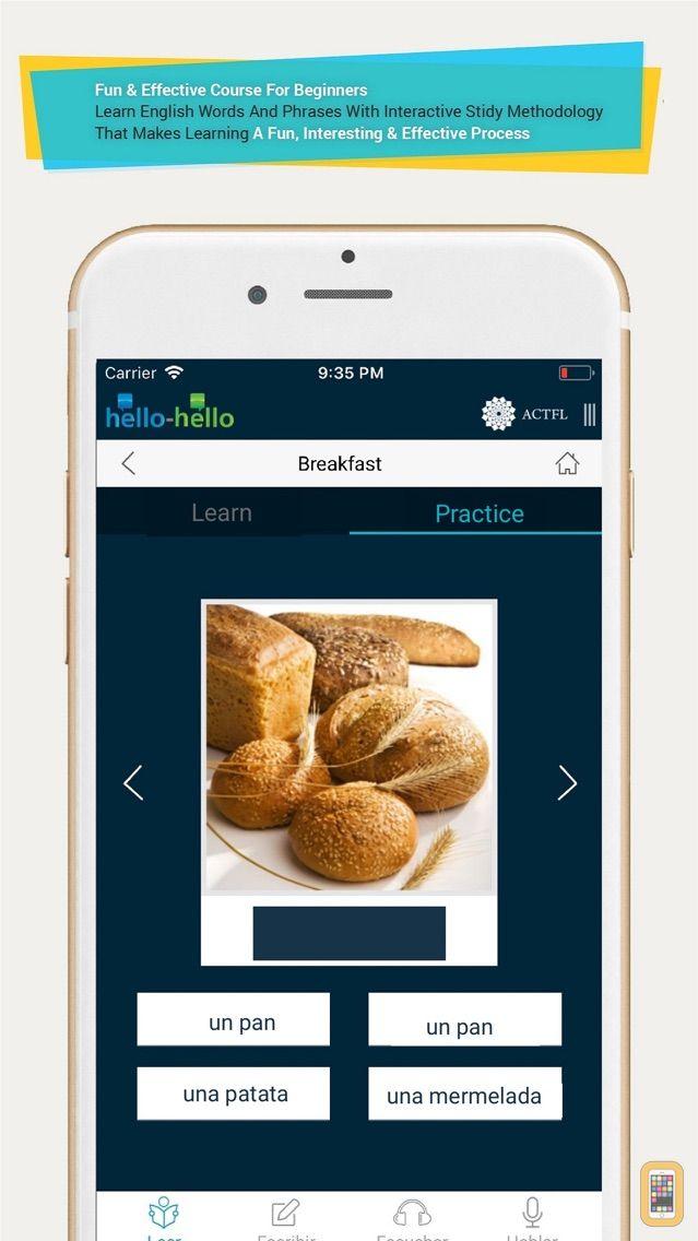 Screenshot - Basic Spanish (for iPhone)