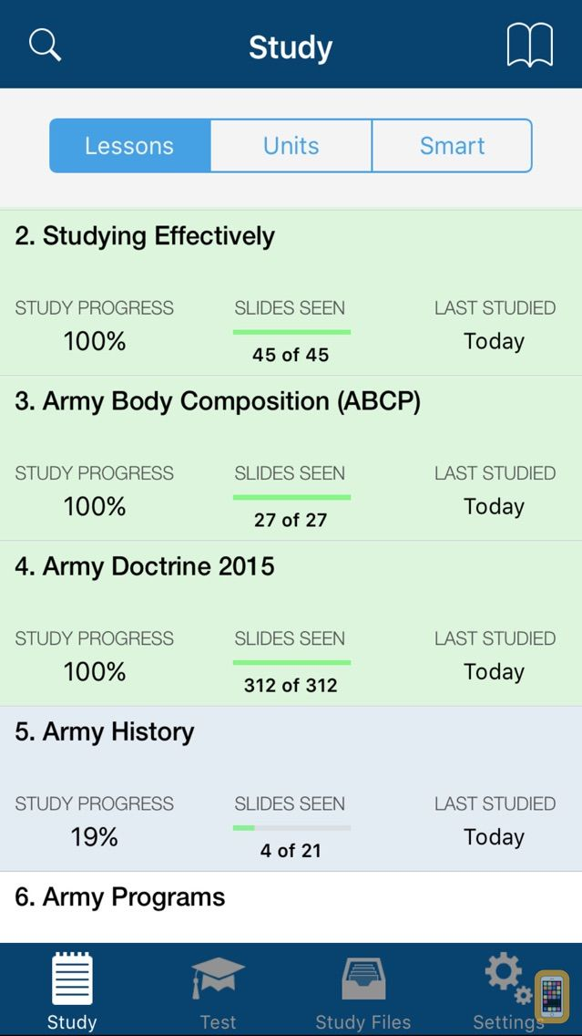Screenshot - PROmote - Army Study Guide