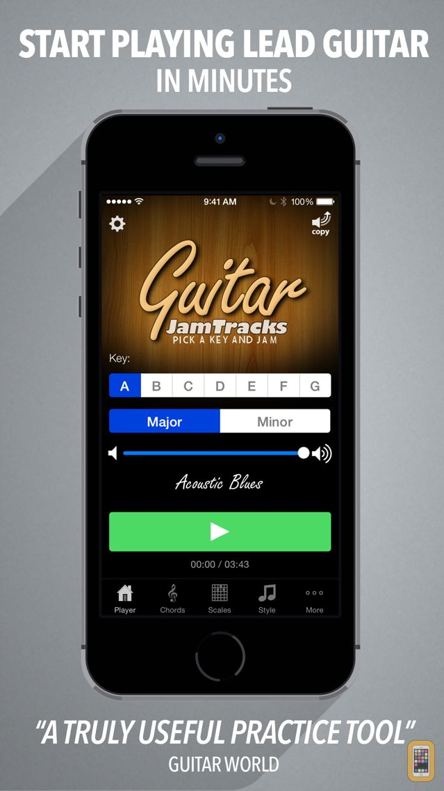 Screenshot - Guitar Jam Tracks - Scale Trainer & Practice Buddy
