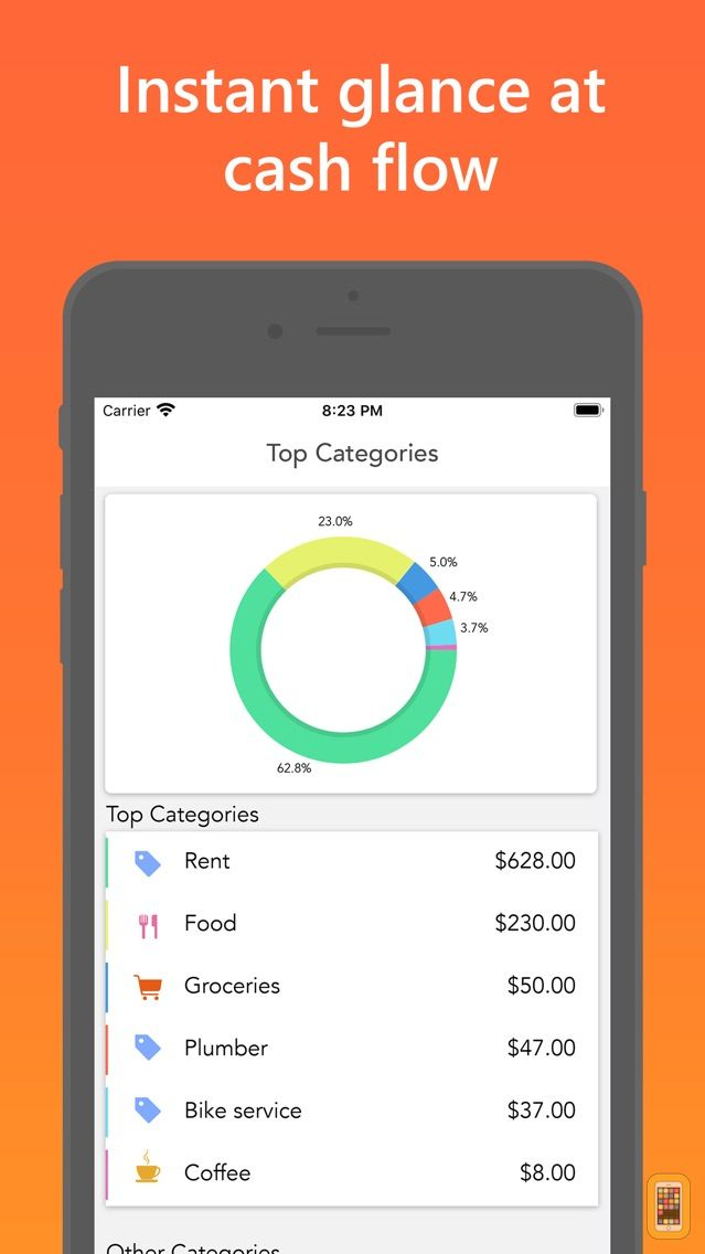 Screenshot - Easy Spending, Expense tracker