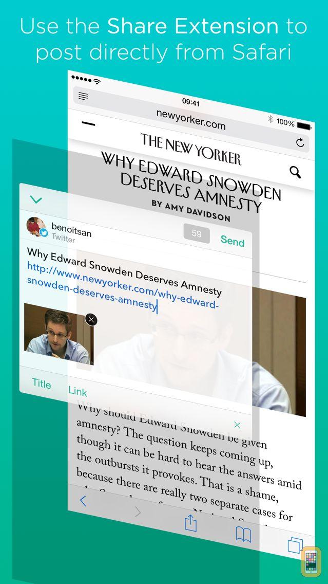 Screenshot - Linky for Twitter and Mastodon