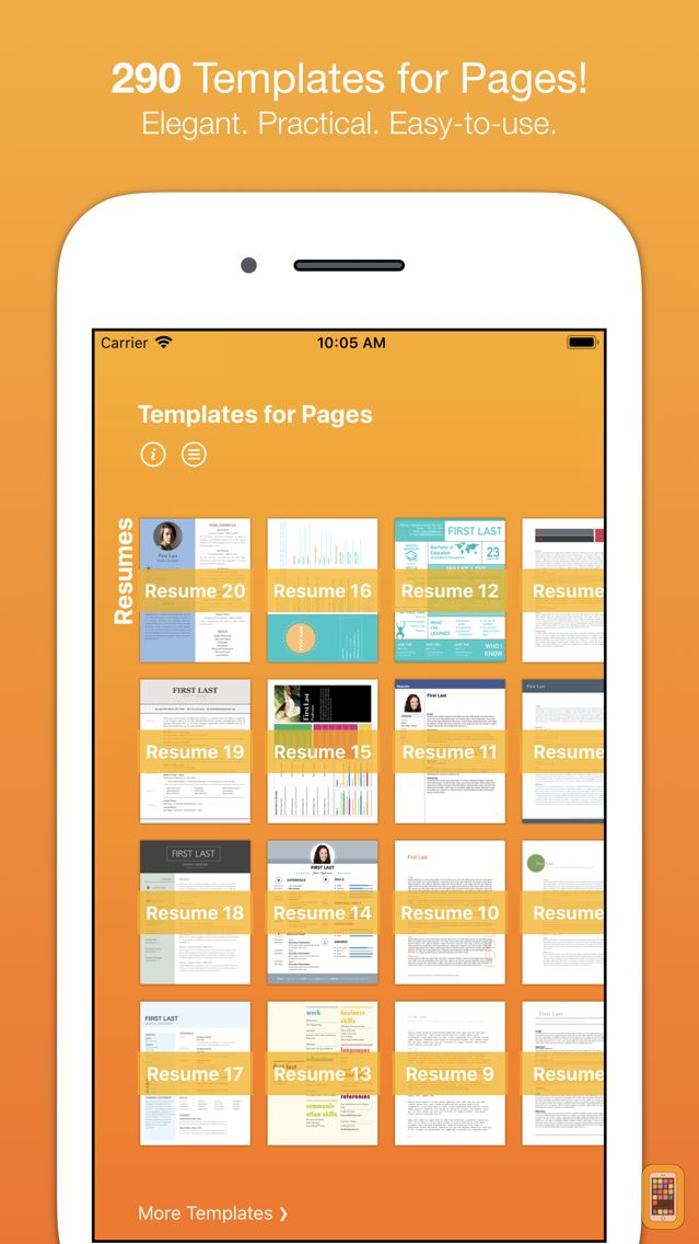 Screenshot - Templates for Pages (Nobody)