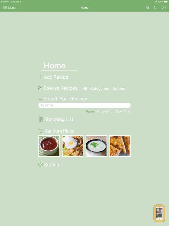 Screenshot - Personal Cookbook II Premium