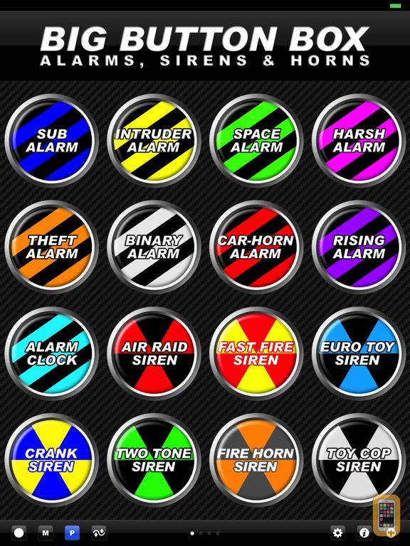 Screenshot - Big Button Box: Alarms, Sirens & Horns HD - sounds