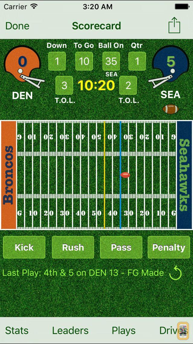Screenshot - iTouchdown Football Scoring