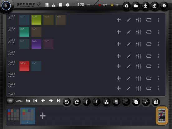 Screenshot - Genome MIDI Sequencer