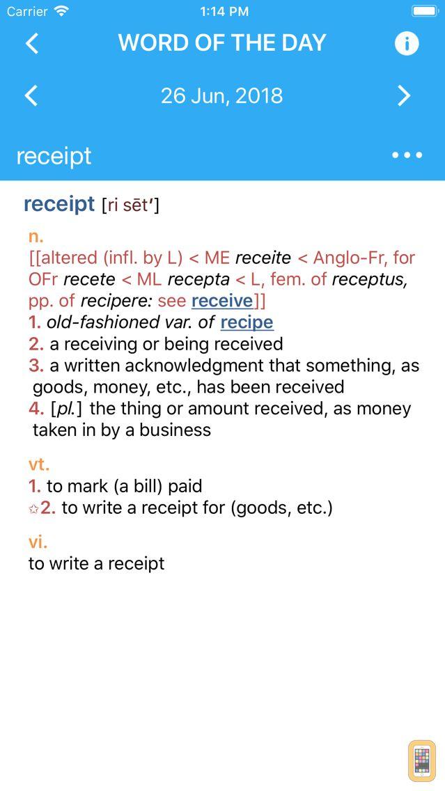 Screenshot - Webster's College Dictionary