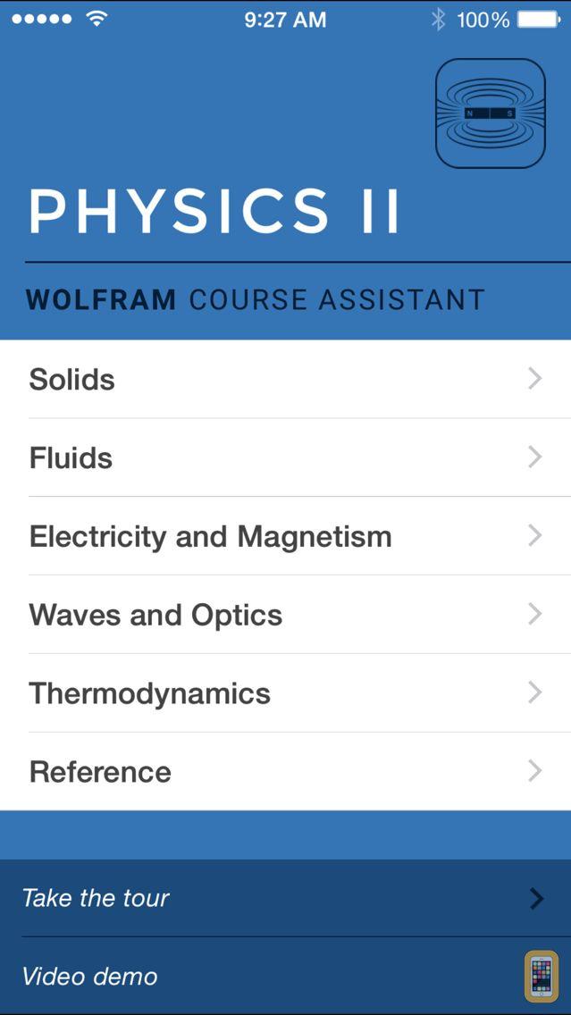 Screenshot - Wolfram Physics II Course Assistant