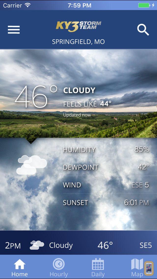 Screenshot - KY3 Weather