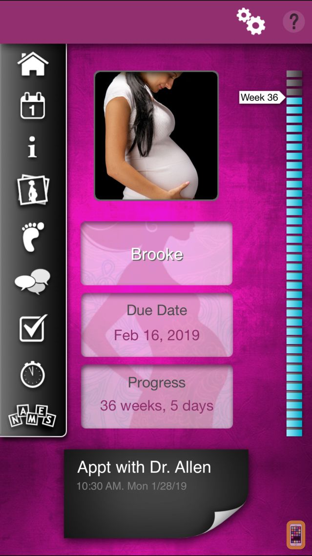 Screenshot - iPregnant Pregnancy Tracker Free (iPeriod's Pregnancy Companion)