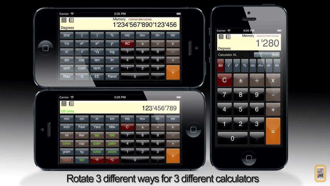 Screenshot - Calculator XL Free - Standard, Scientific, & Unit Converter