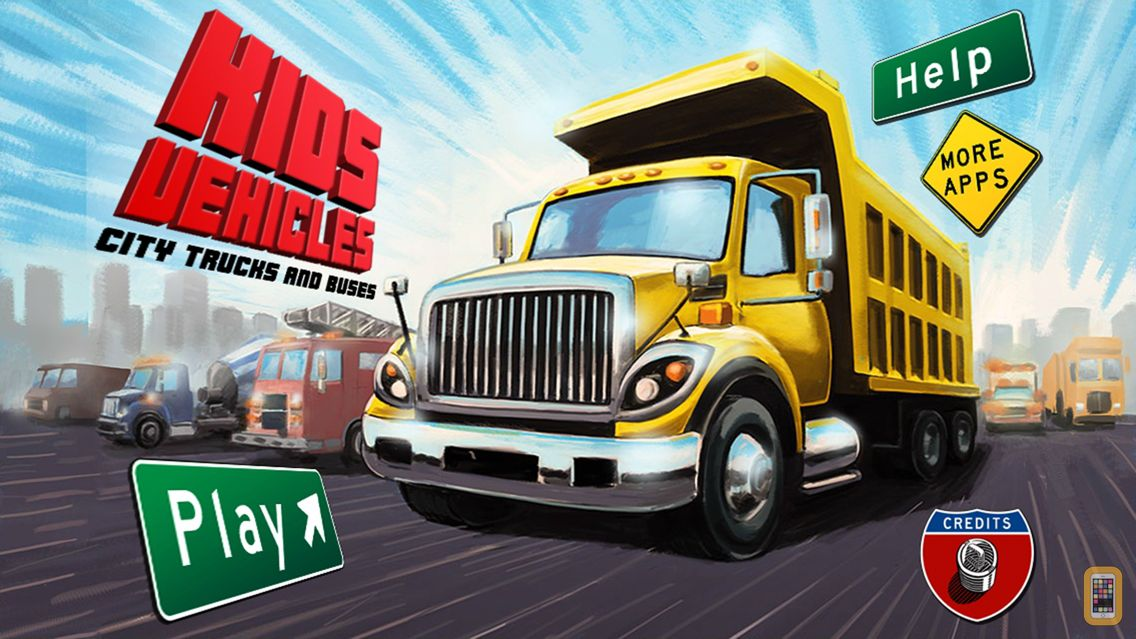 Screenshot - Kids Vehicles: City Trucks & Buses for the iPhone
