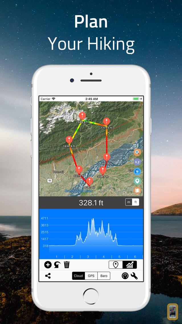 Screenshot - Elevation - Altimeter Map