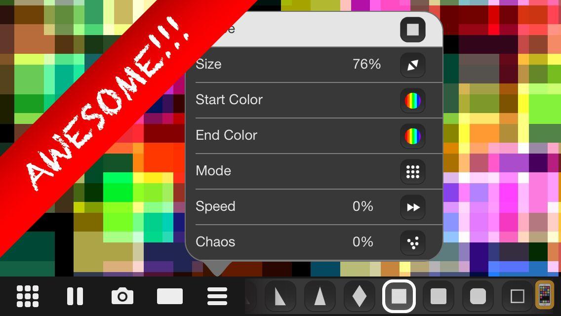 Screenshot - Makanim - Multi-touch Generative Art Graphic Animation