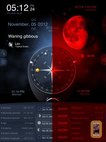 Screenshot - Deluxe Moon HD - Moon Phases Calendar