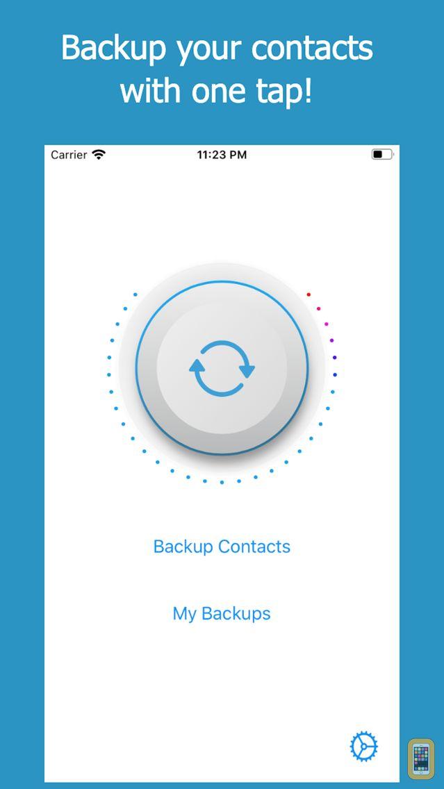 Screenshot - Backup Contacts + Restore