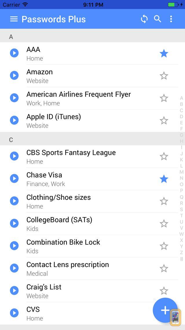 Screenshot - Passwords Plus - Free Secure Vault