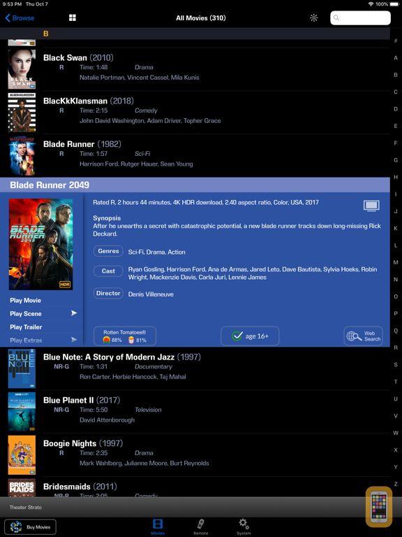 Screenshot - Kaleidescape App for iPad
