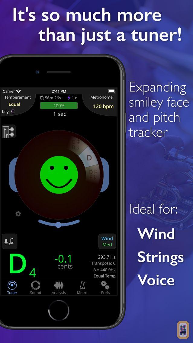 Screenshot - TonalEnergy Chromatic Tuner and Metronome