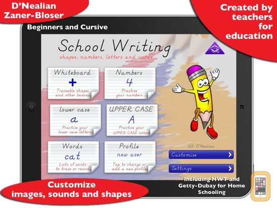 Screenshot - School Writing – Learn to write and more.