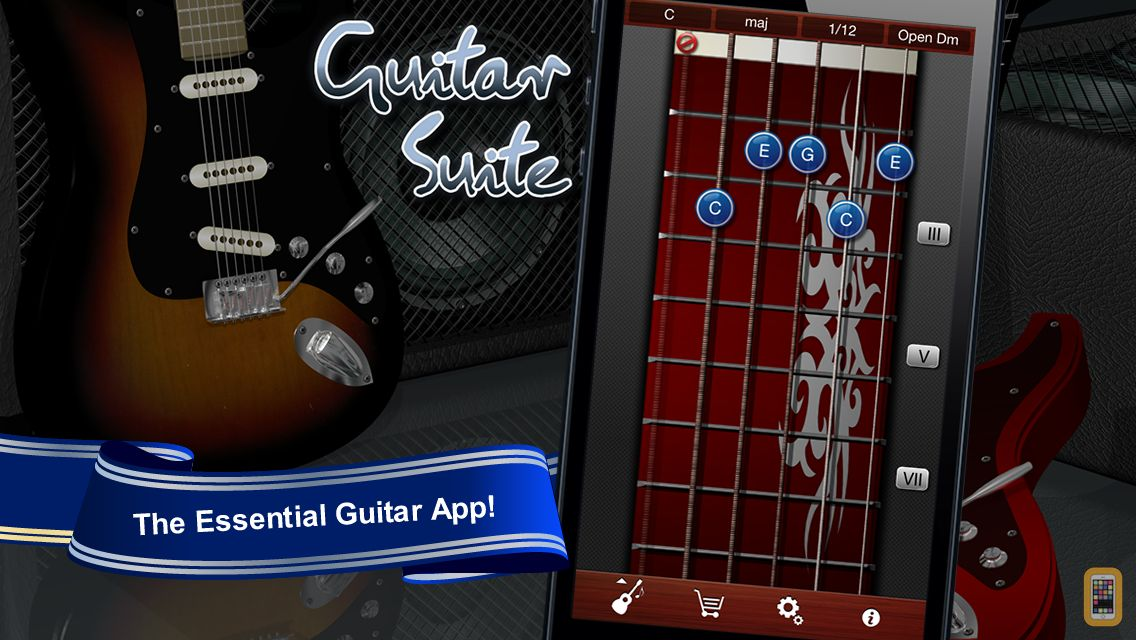 Screenshot - Guitar Suite - Metronome, Tuner, and Chords Library for Guitar, Bass, Ukulele
