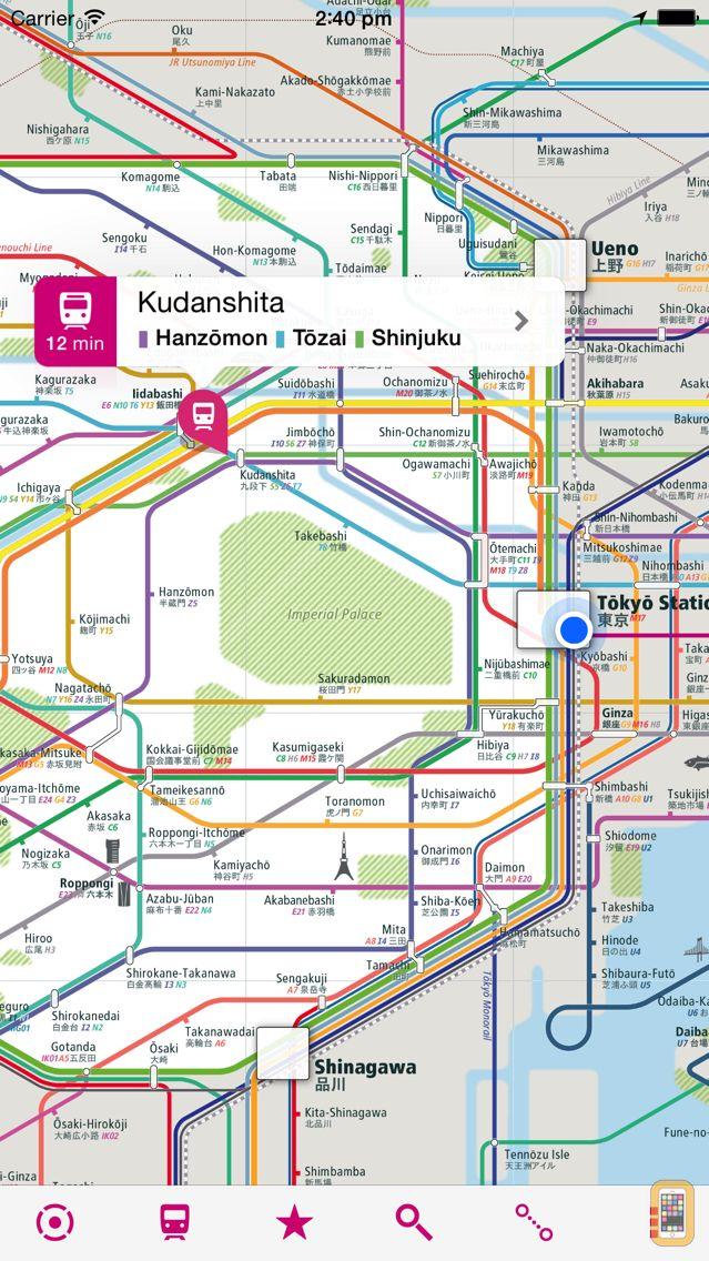 Screenshot - Tokyo Rail Map Lite