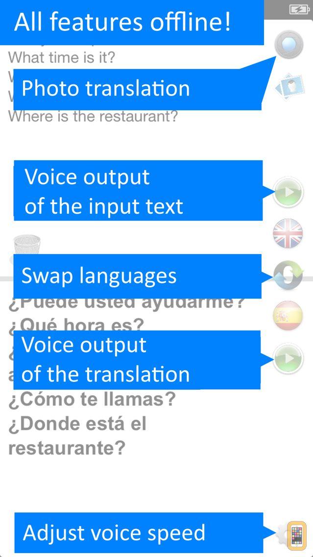 Screenshot - Offline Translator Spanish Pro