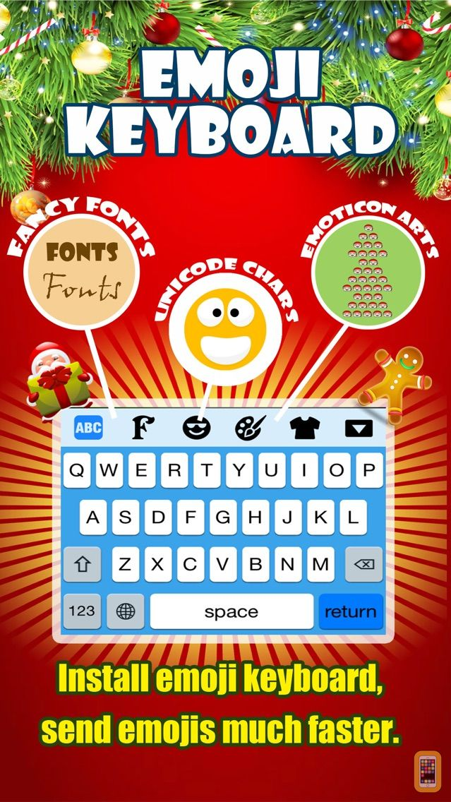 Screenshot - Emoji Keyboard -Gif Color Text Font for Messenger