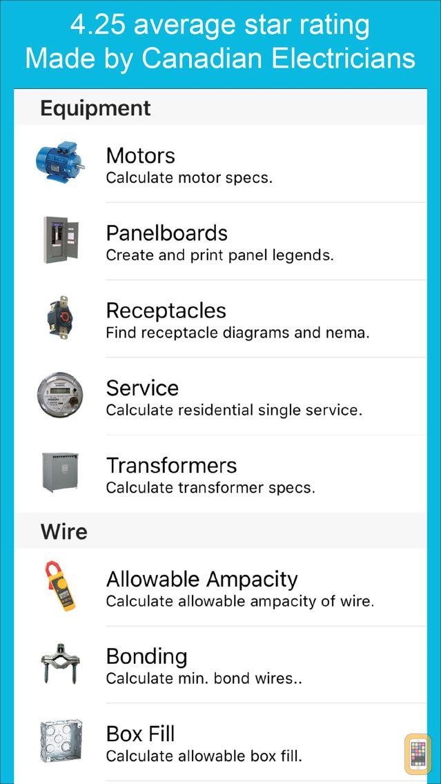 Screenshot - Electrical Calc Pro