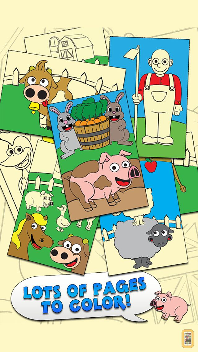 Screenshot - Coloring Farm Animal Coloring Book For Kids Games
