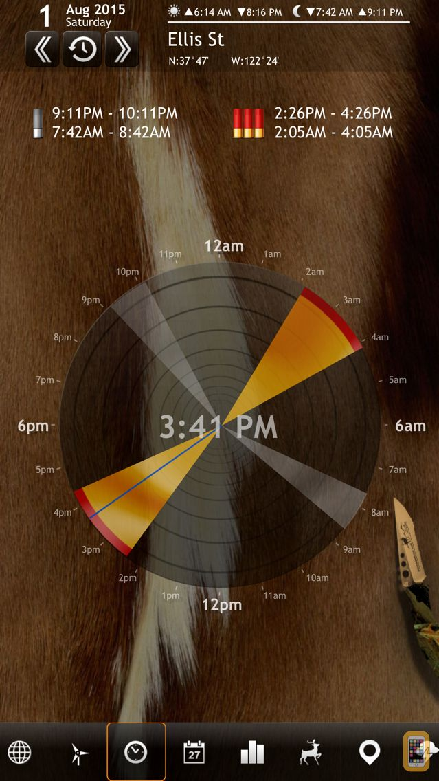 Screenshot - Solunar Calendar - Best Hunting Times and Feeding