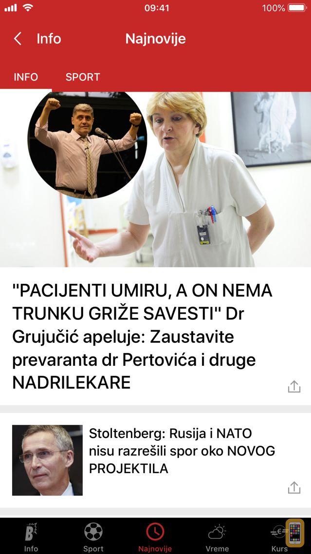 Screenshot - Blic