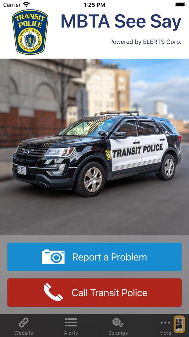 Screenshot - MBTA See Say