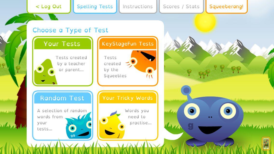 Screenshot - Squeebles Spelling Test