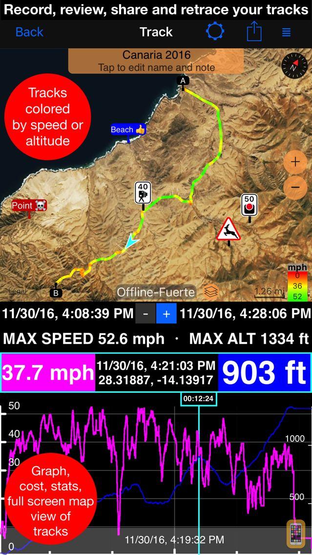 Screenshot - Speedometer 55 Pro. GPS kit.