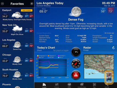Screenshot - NOAA Weather and Radar for iPad