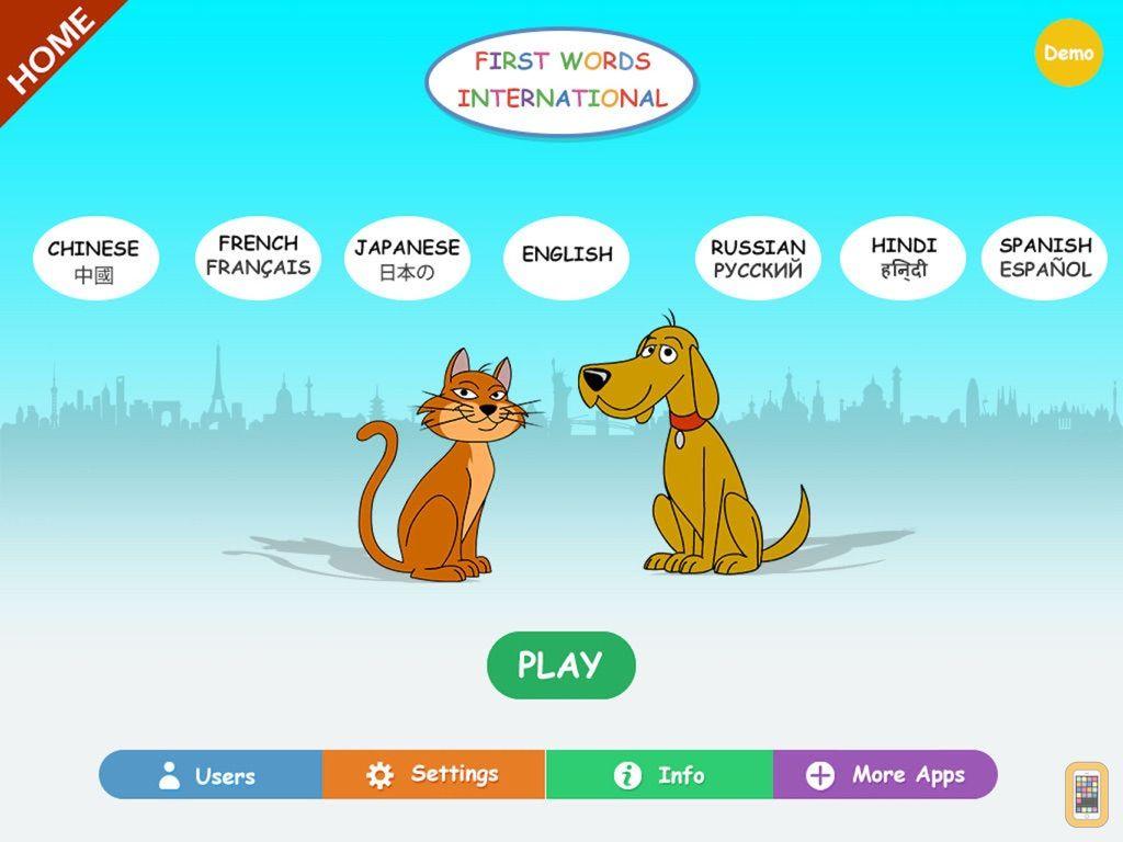 Screenshot - First Words International Home HD