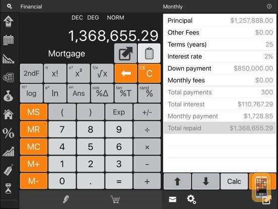 Screenshot - Financial Calculator HD