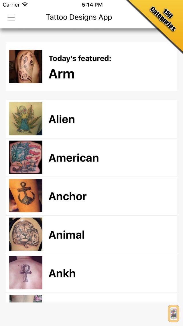 Screenshot - Tattoo Designs Pro