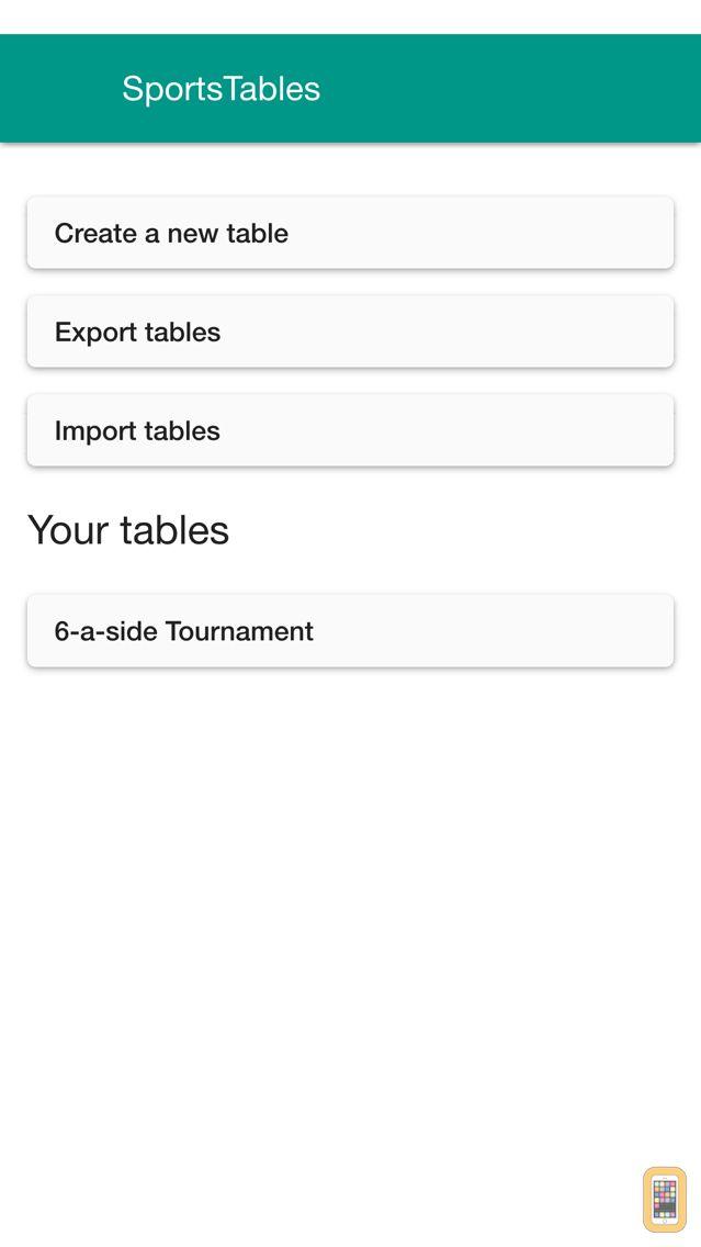 Screenshot - SportsTables League Manager