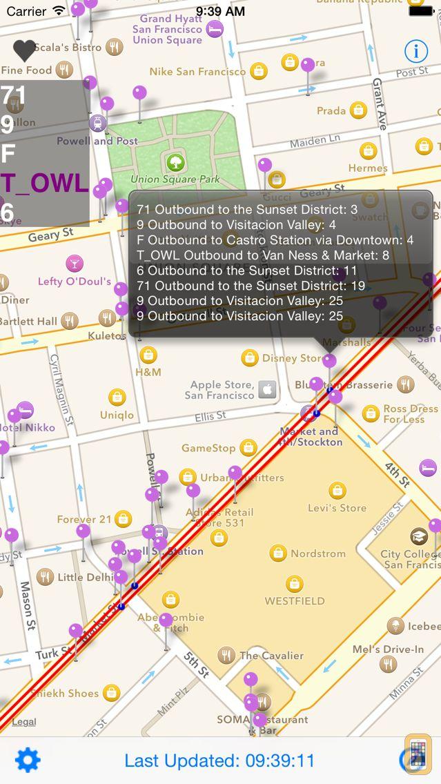 Screenshot - SF Next Bus
