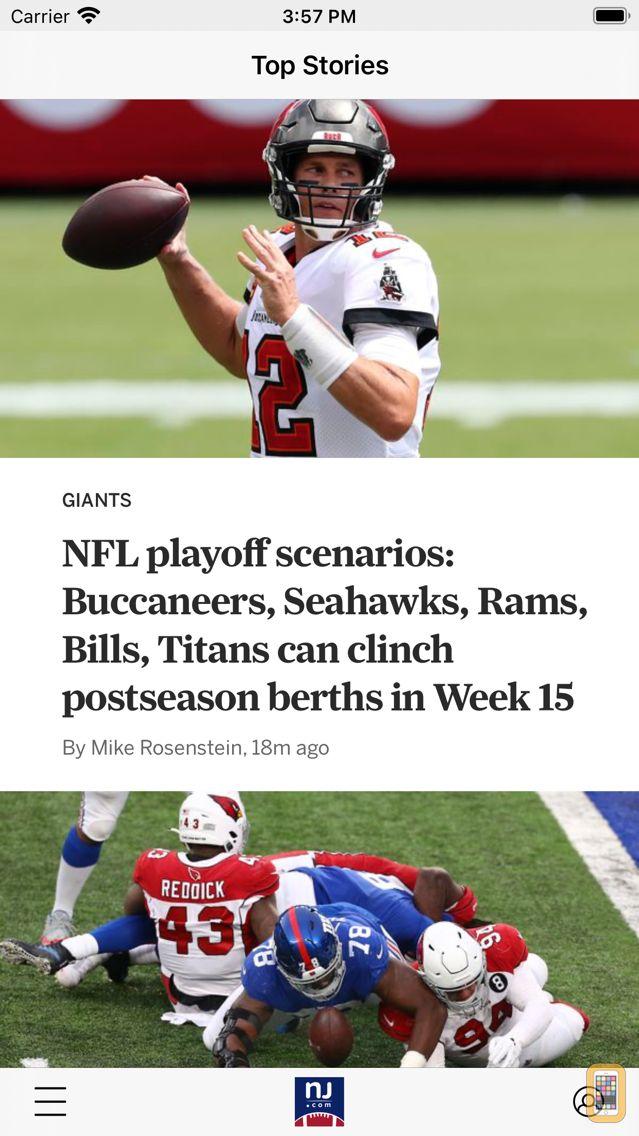 Screenshot - NJ.com: New York Giants News