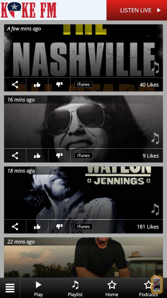 Screenshot - KOKE FM