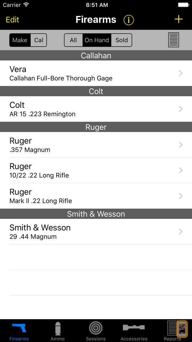 Screenshot - Gun Log SPC